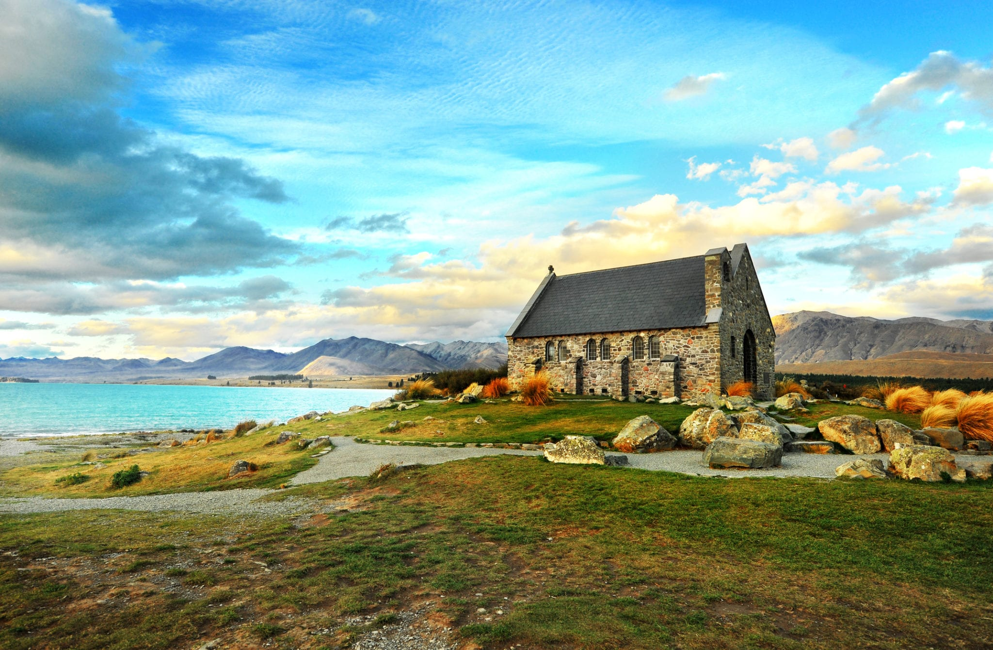 Church of the Good Shepherd wedding venue in Lake Tekapo, New Zealand