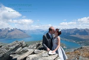 Queenstown Helicopter Wedding Package high up on The Remarkables Mountains