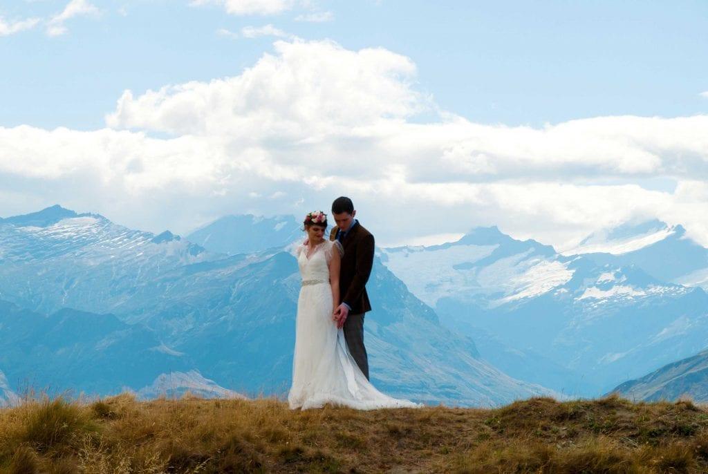 New Zealand Wanaka Heli Wedding