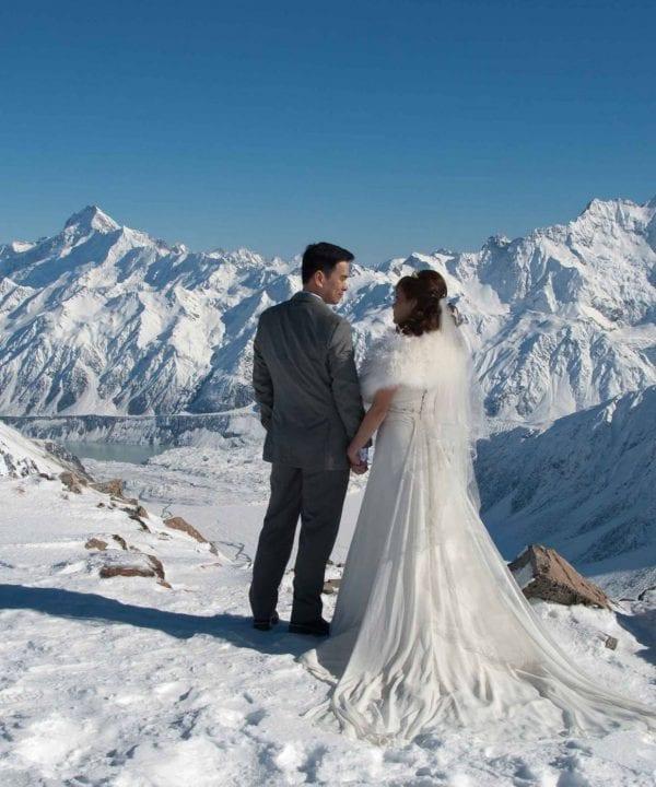 Liebig Dome Snow Wedding