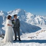 Mt Cook Snow Wedding NZ