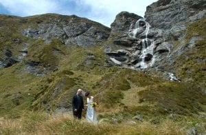 Wanaka Hidden Waterfall Wedding