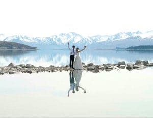 Lake Wedding in New Zealand