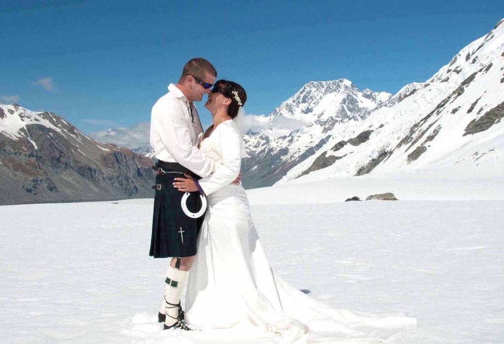 Aoraki Mt Cook Tasman Glacier Wedding