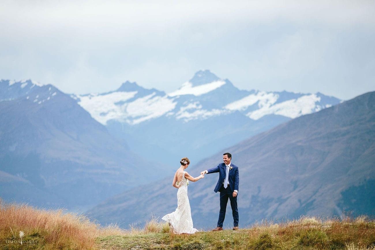 Real Wedding - Michelle married Fred in a heli wedding to Coromandel Peak