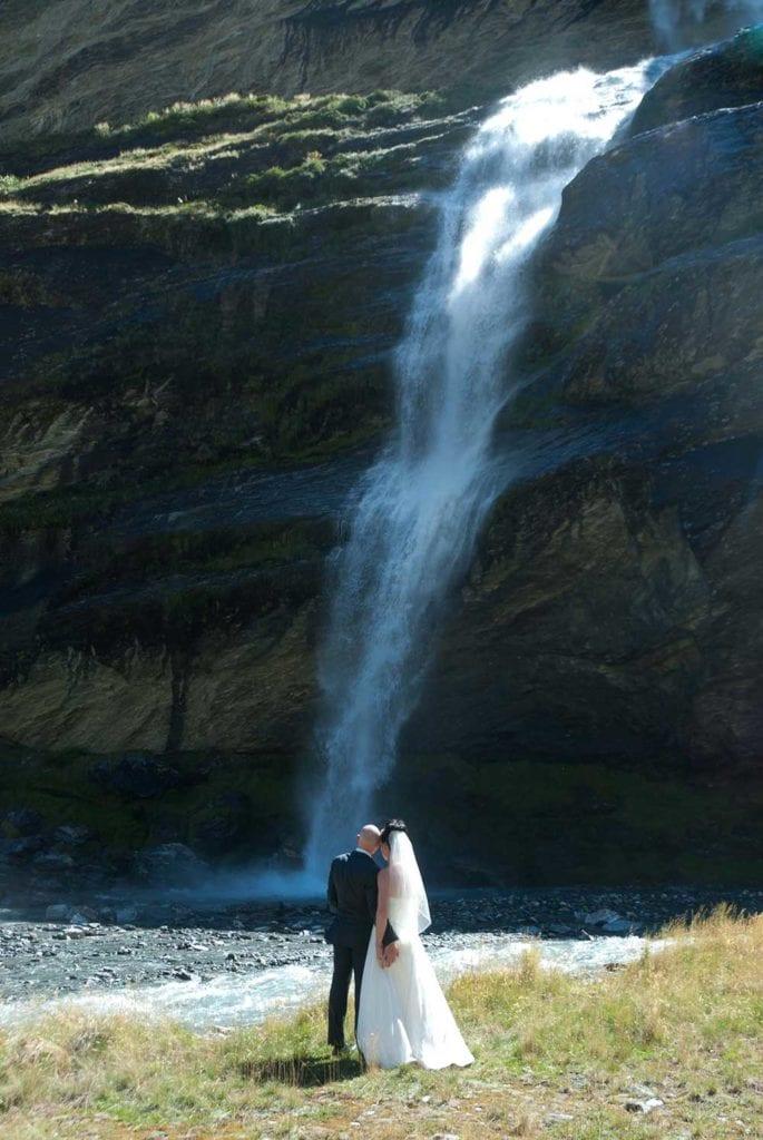 Magical Queenstown waterfall wedding