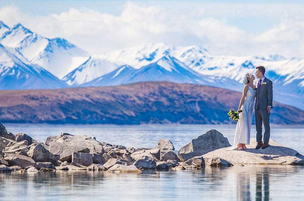 Gary and Naisong's Lake Tekapo elopement wedding
